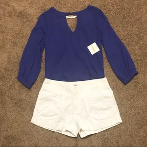 NWT Meraki blue flowy blouse